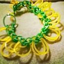 Flower Rainbow Loom Bracelet