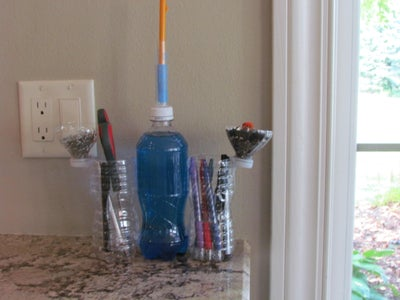 Plastic Bottle Pencil Holder