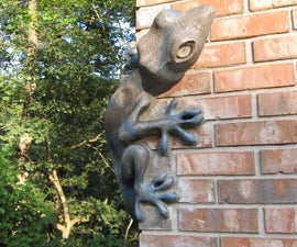 Cast concrete Lizard and frog