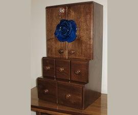 Dovetailed Walnut Wall Cabinet