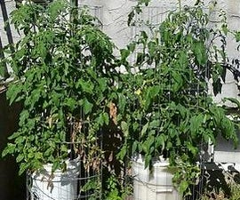 Self-watering bucket planter