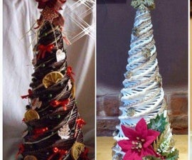 Christmas Tree Made Out of Newspaper!