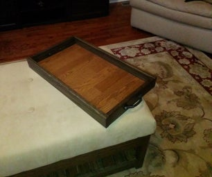 Wooden Tray From Wood Scraps