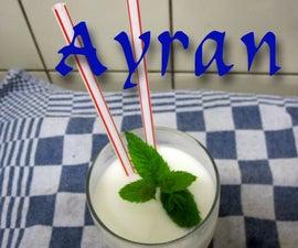 Ayran: Turkish yoghurt drink