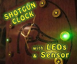 Shotgun Shell Light Sensor Clock