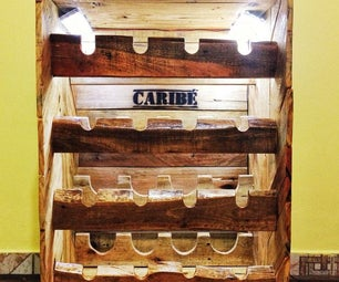 Rustic Wine Rack Out of Pallets for 16 Bottles