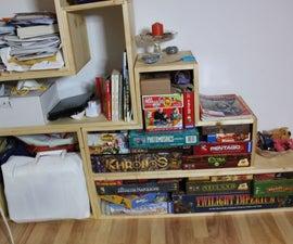 Tetris-Style shelf using dovetail joints