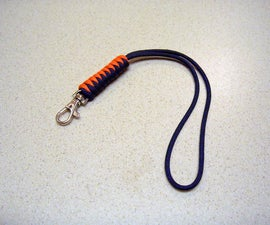 Paracord wrist lanyard made with the snake knot