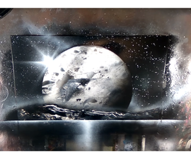 Spray Paint Art : How to Draw a Planet With a Spray Paint