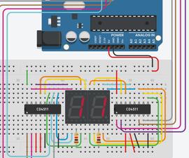 Two Digit Timer/Counter Using Arduino & 7 Segment Display