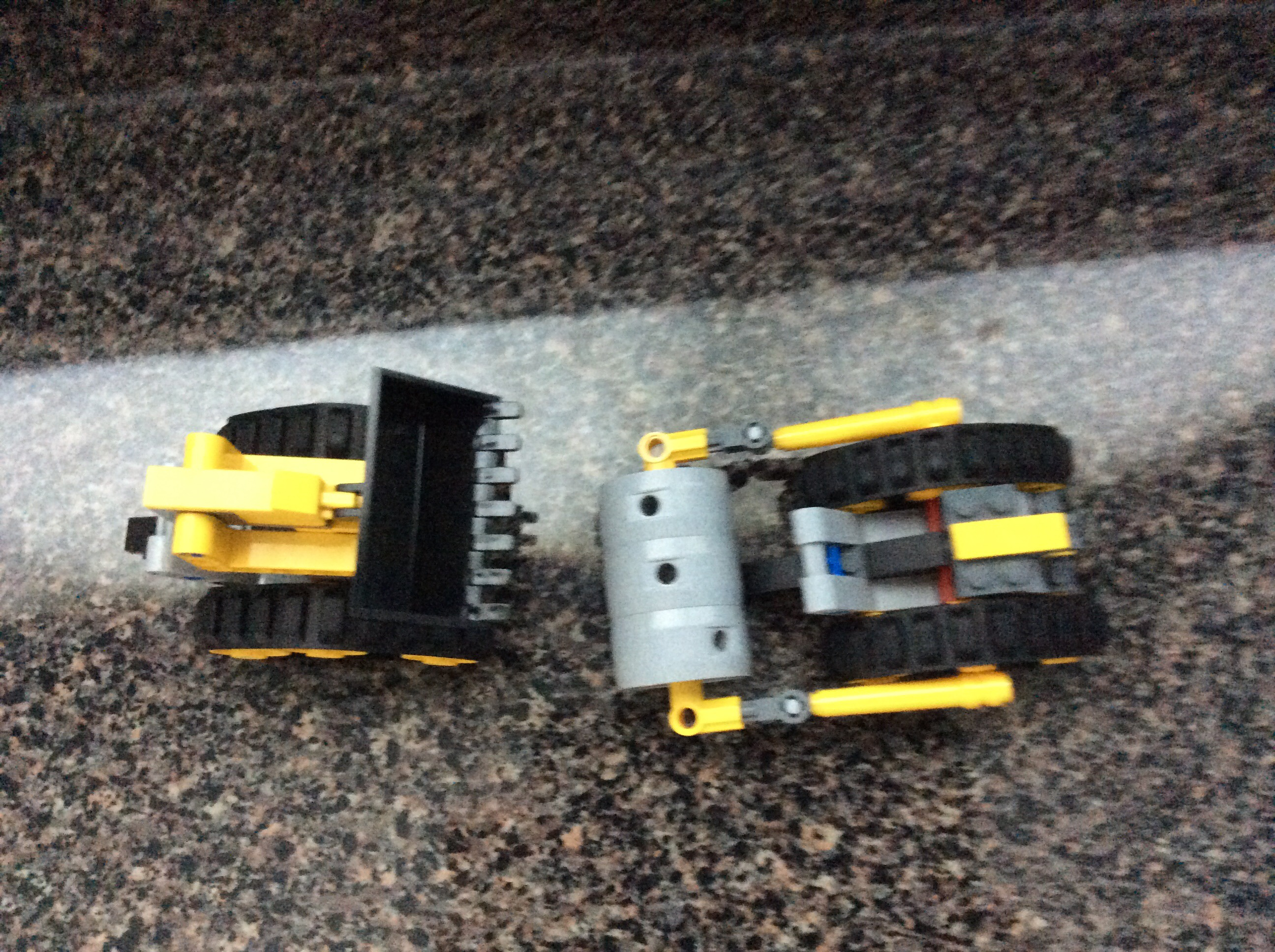 Picture of Make a Bulldozer and Steam Roller Out of Legos