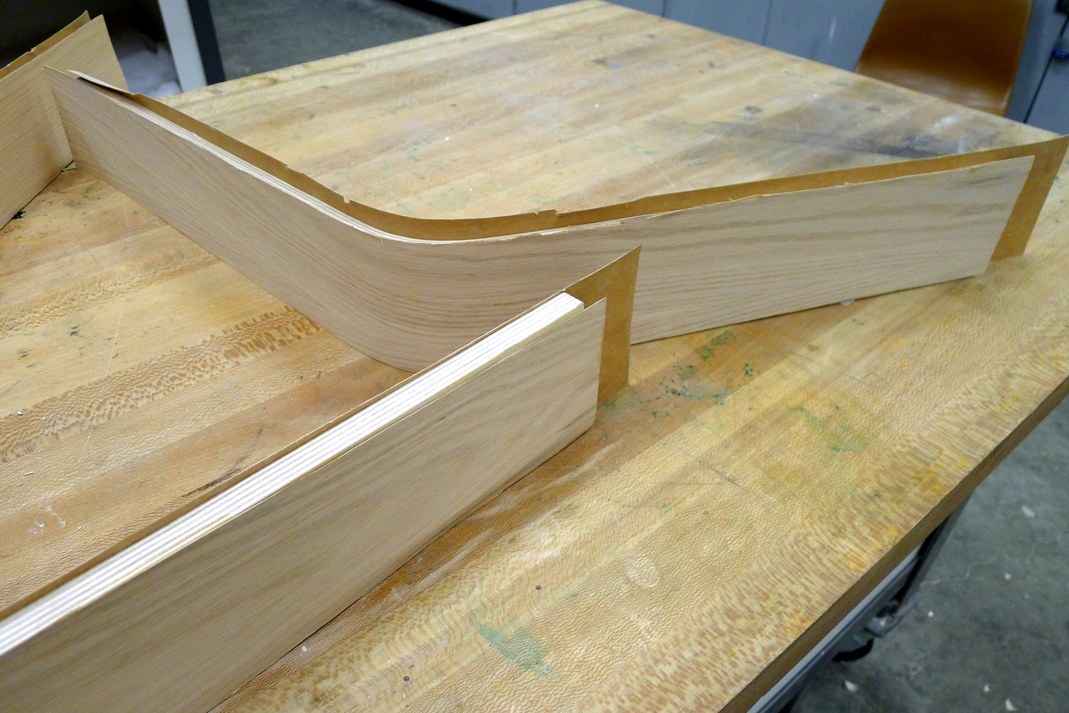 Picture of Cutting the Pieces and Veneering: