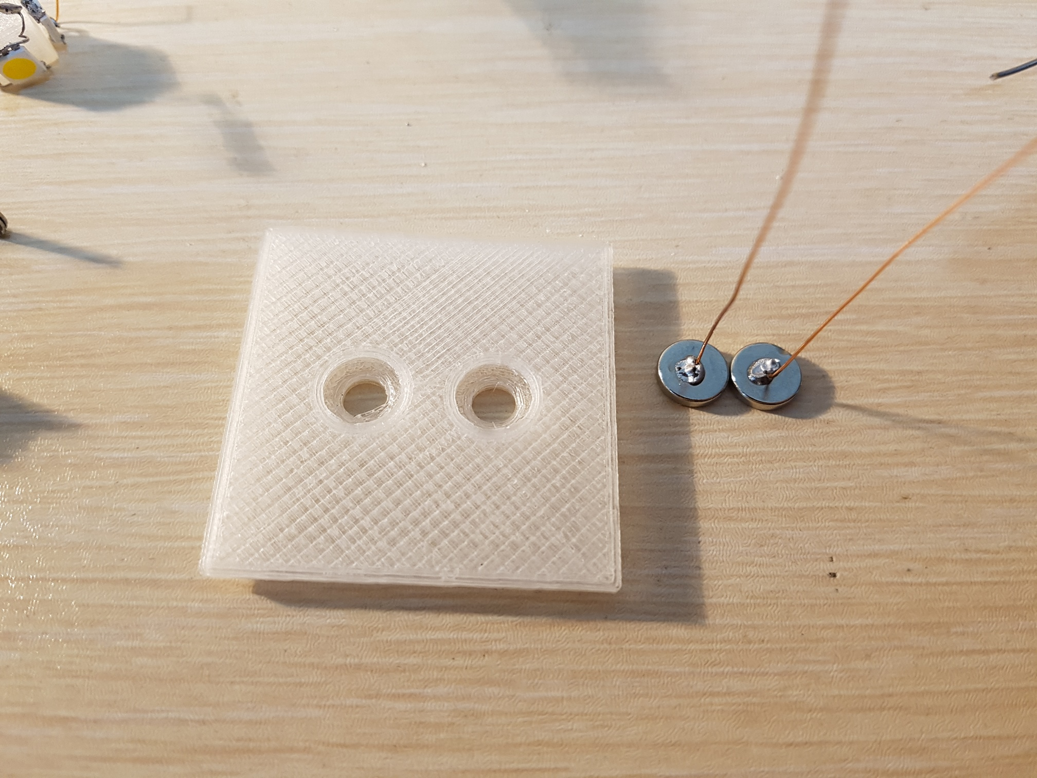 Picture of Solid Magnets and Use Super Glue and Solid Led