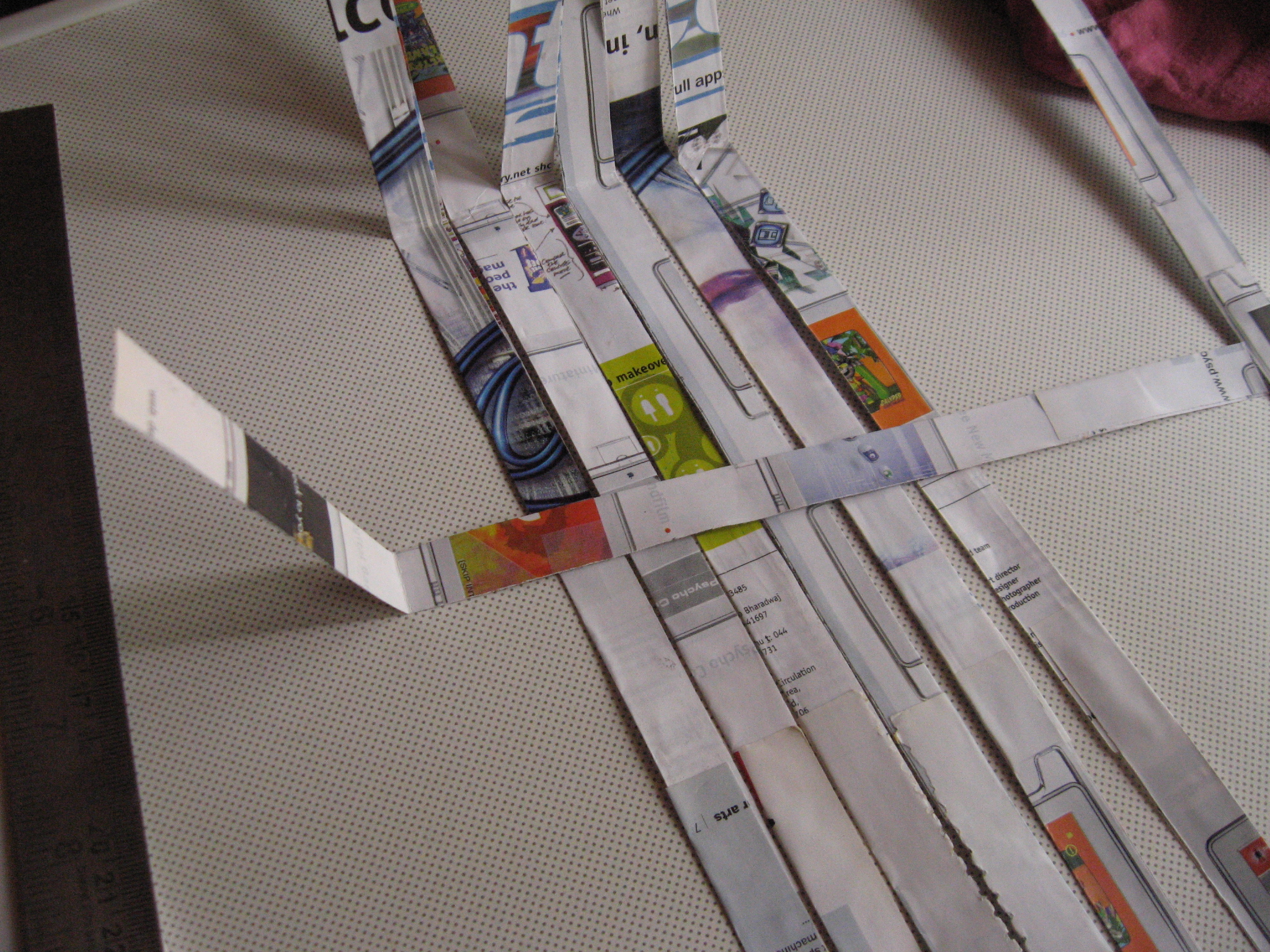 Picture of Arrange Strips for Weaving