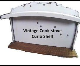 Vintage Cook-stove Curio Shelf