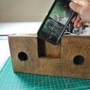 Scrap Wood Cell Phone Amplifier
