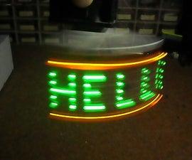 Arduino  Horisontal POV Display