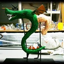 Trogdor (the Burninator) Paper Mache Sculpture