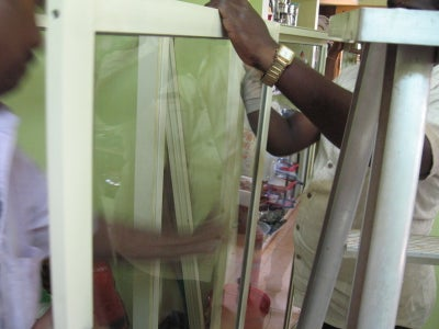 Fitting the Glass Doors in Frame