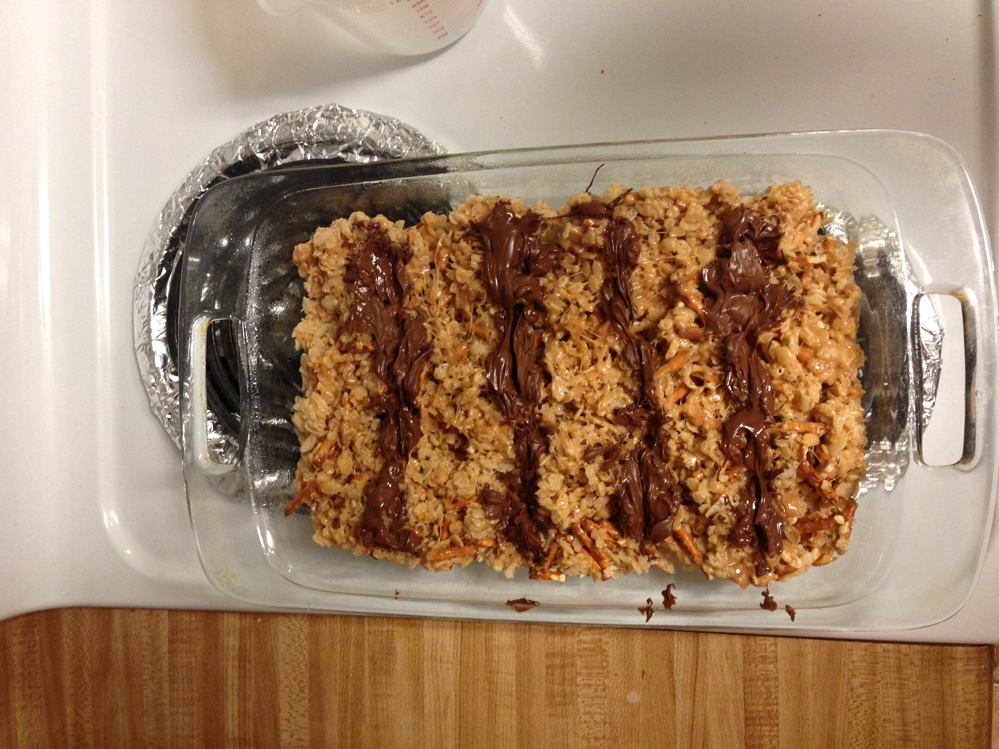Picture of How- to Make Peanut Butter Chocolate Pretzel Rice Crispy Treats