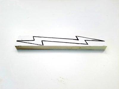 Wooden Lightning Bolt