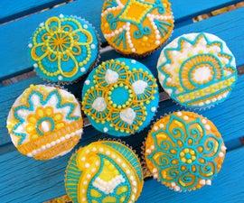 Easy Henna Cupcakes