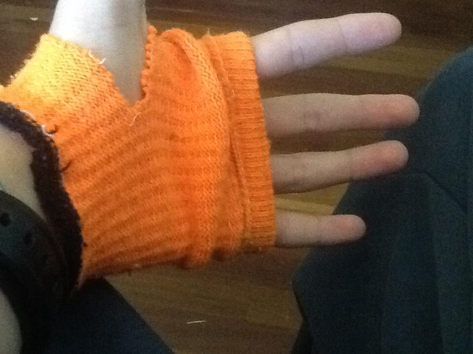 Picture of Fingerless Sock Gloves