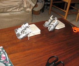 DIY Cool and Cheap Little Dog Sneakers or Boots From Duct Tape