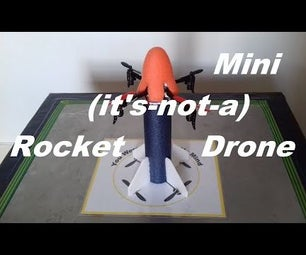 Landing a Remote Controlled Air Compressed Projectile Vertically Aka Mini (it's-not-a) Rocket Drone