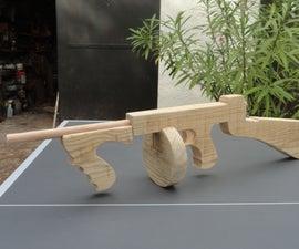 Wood Tommy Gun Replica