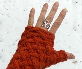 Super Easy Fingerless Gloves!