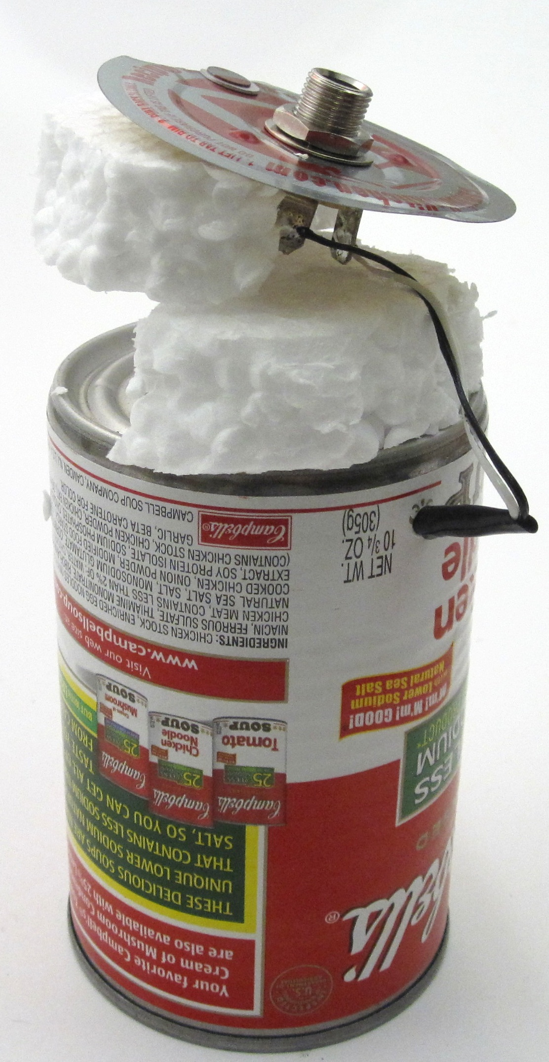 Picture of Cut Styrofoam to Use As a Filler