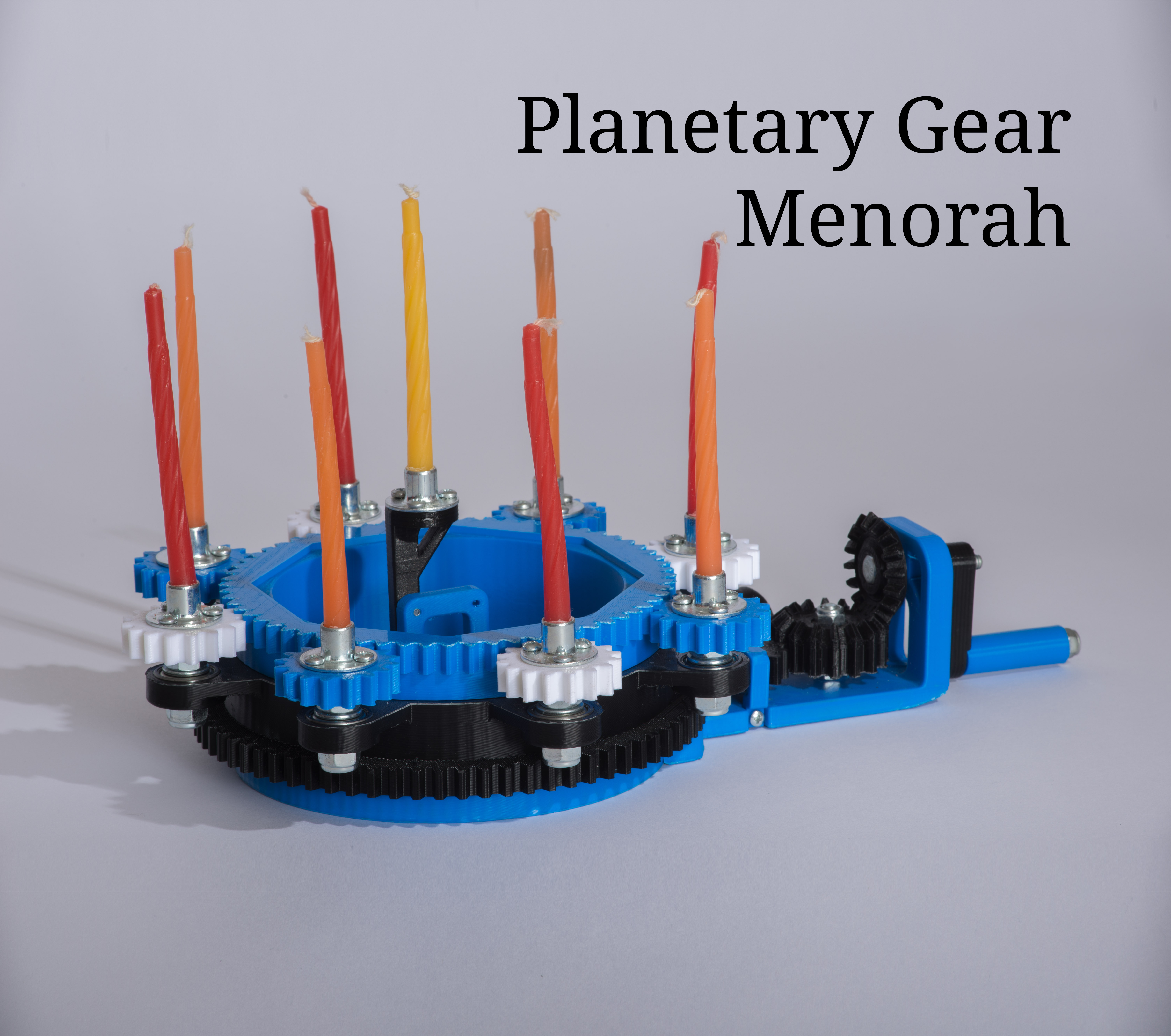 Picture of How to Make a Planetary Gear Menorah