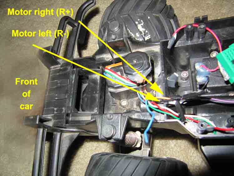 Picture of Locate Forward/back and Left/right Motors