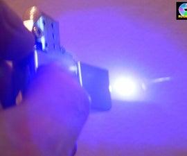 Laser cutter hidden in a flip top lighter
