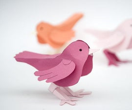Paper Bird. Download and Make.