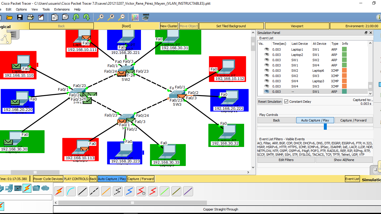 Picture of Configure VLAN in Cisco Packet Tracer