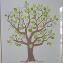Thumbprint wedding tree.