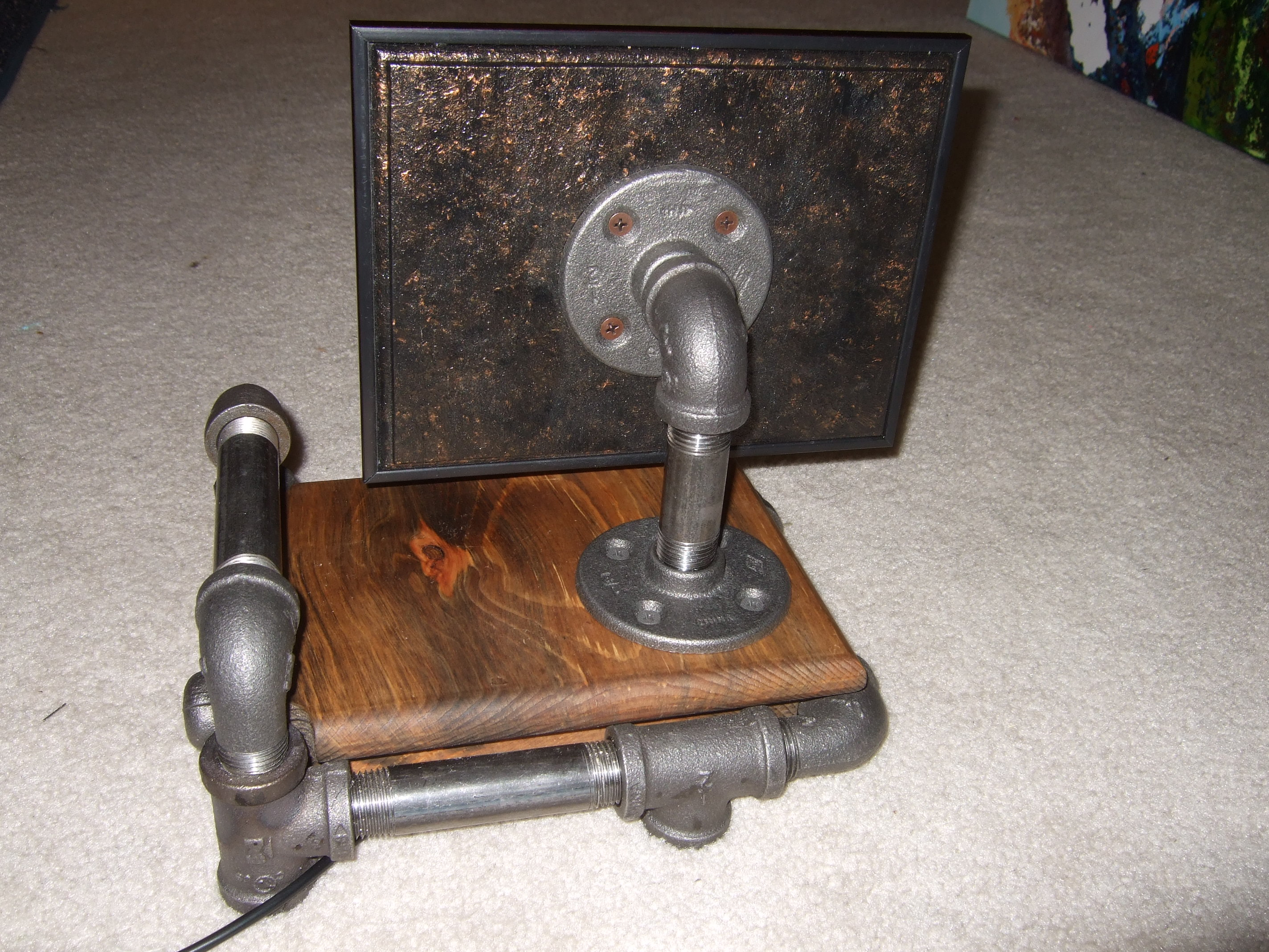 """Picture of Steam Punk Digital 8"""" Picture Frame"""