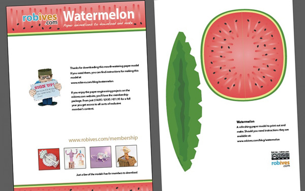 Picture of Paper Craft Watermelon