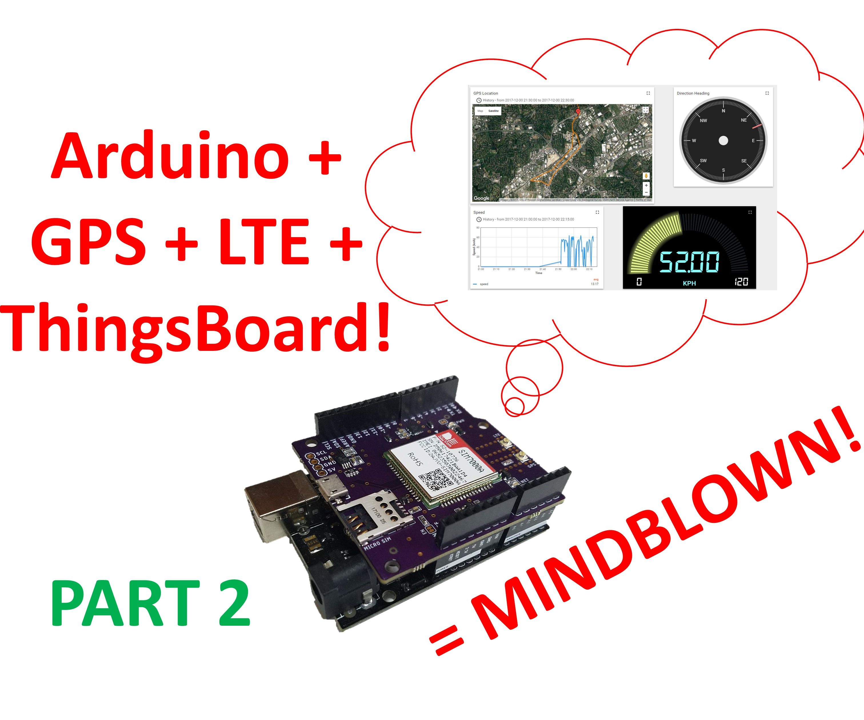 LTE Arduino GPS Tracker + IoT Dashboard (Part 2): 6 Steps (with