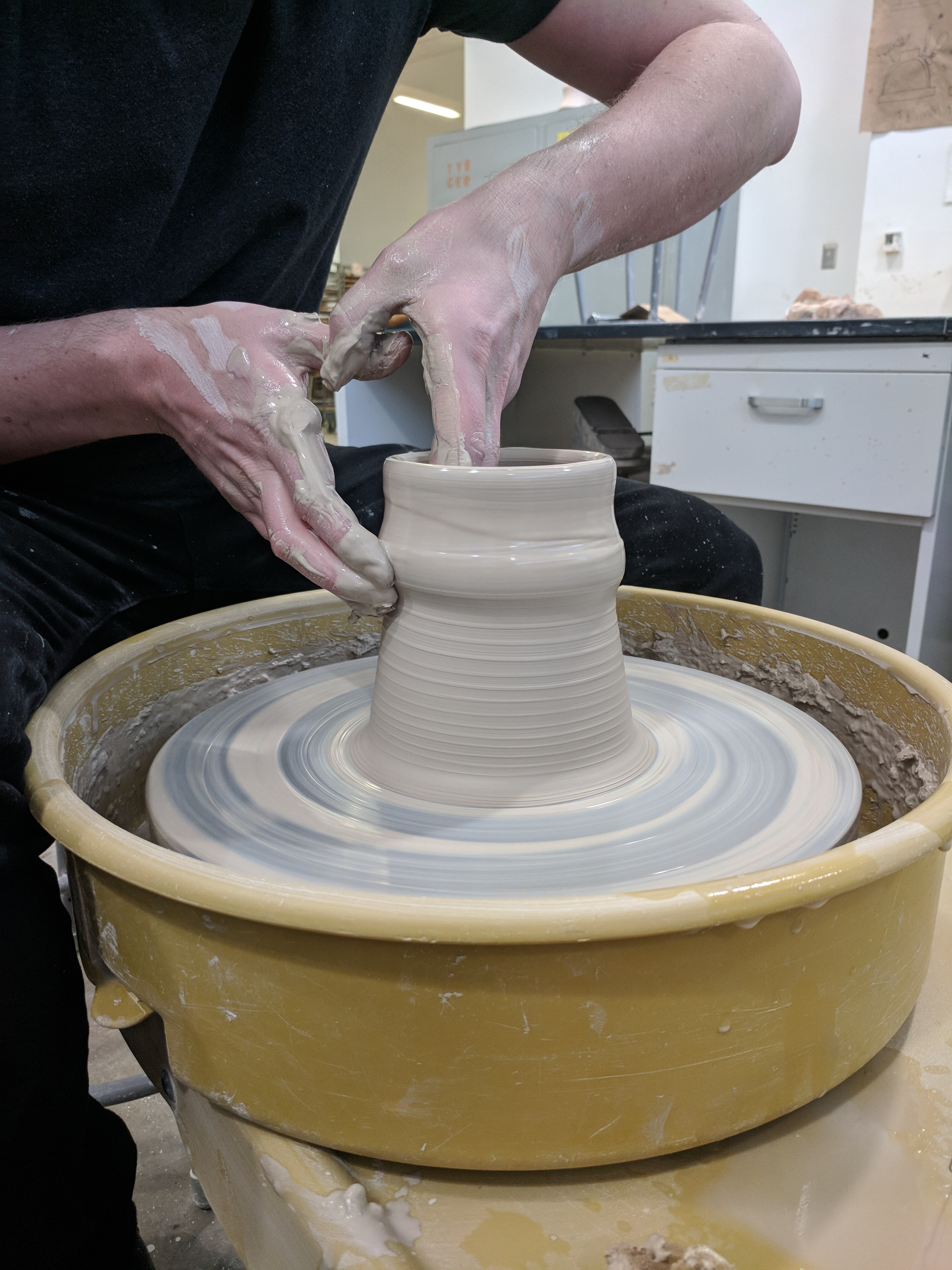 Picture of Slow the Wheel As the Cylinder Gets Taller