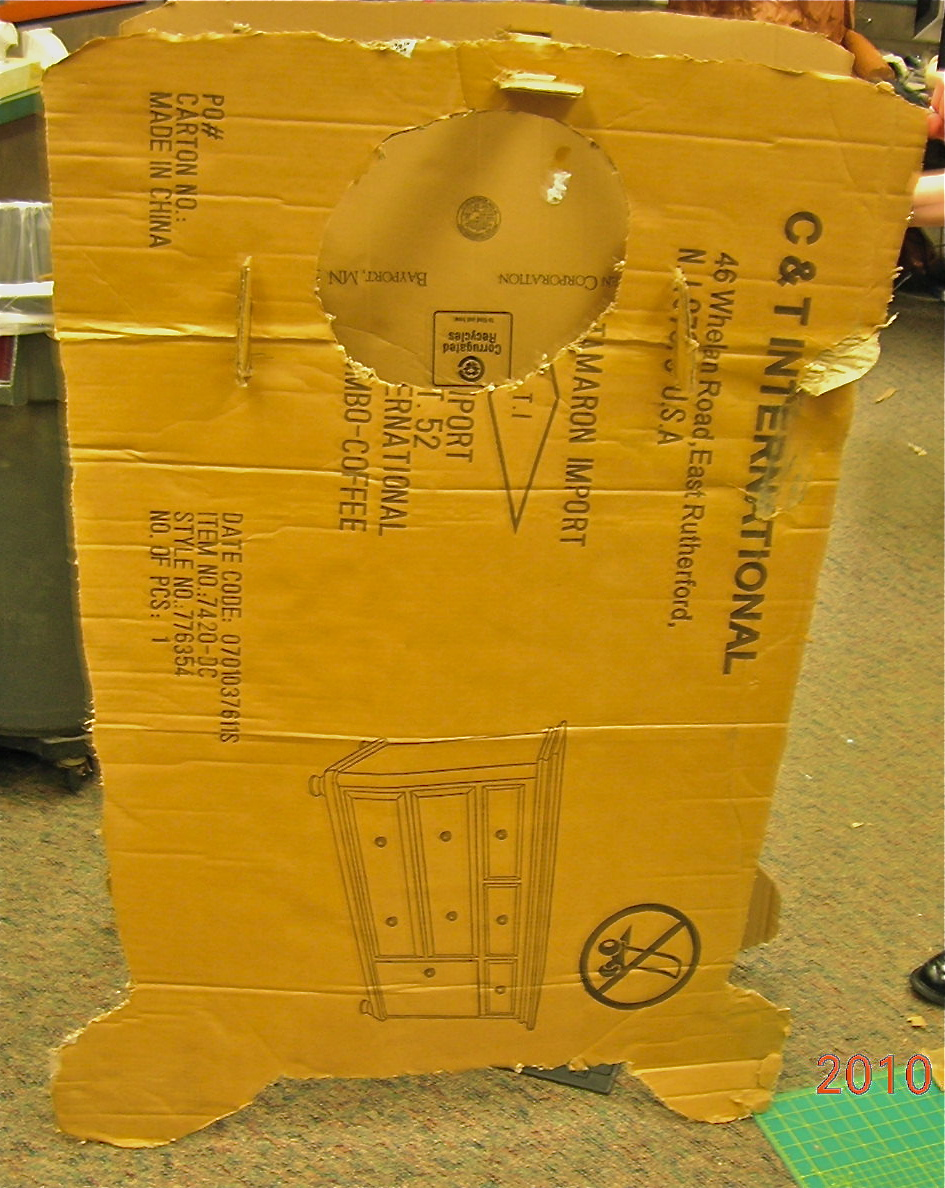 Picture of Slotted Cardboard Oyster Costume