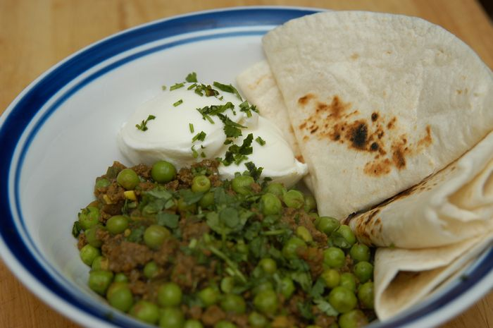 Picture of Keema (Indian Curried Peas and Meat)