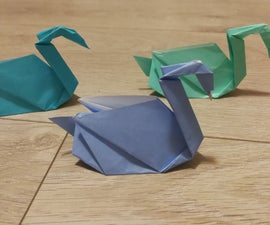 Stephen Weiss' Origami Swan With One Sided Paper