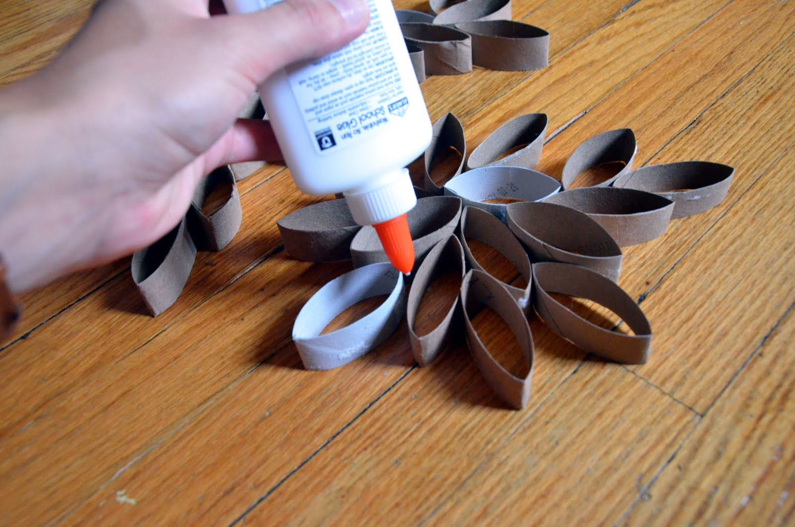 Picture of Glue Paper Roll Cut-Outs Together