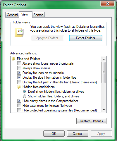 Picture of 1-Show Hidden Files.