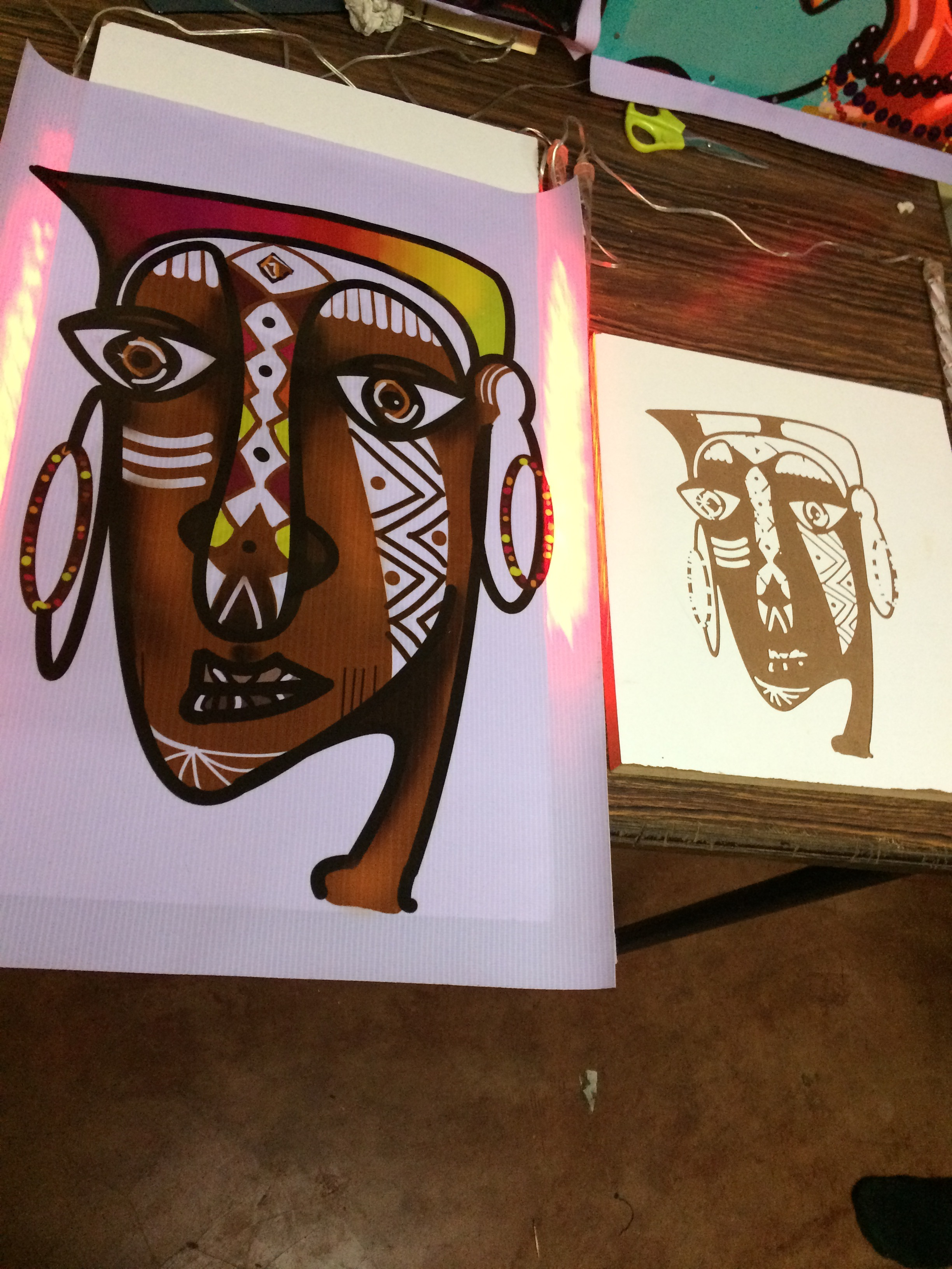 Picture of African Art:CNC Vs Light