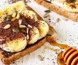 Chocolate Banana Breakfast Toast