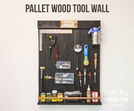Pallet Wood Tool Wall for Leather Tools